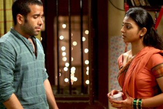 Movie Still From The Film Shor In The City,Tusshar Kapoor,Radhika Apte