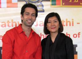 Nakuul Mehta visits the International Buddhist Film Festival in Sri Lanka