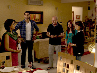 Movie Still From The Film Buddha In A Traffic Jam,Mahie Gill,Arunoday Singh,Anupam Kher,Pallavi Joshi