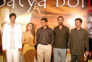 Photo Of Tina Parekh,Sayaji Shinde,Aadesh Shrivastava From The Audio Launch Of Satya Bol