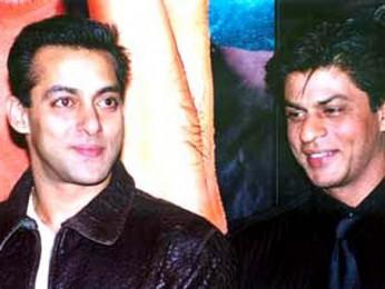 Photo Of Salman Khan,Shahrukh Khan From The Audio Release Of Hum Tumhare Hain Sanam
