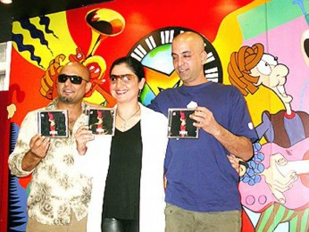 Photo Of Sabir Zafar,Pooja Bhatt,Ali Azmat From The Audio Release Of Paap