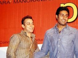 Photo Of Salman Khan,Abhishek Bachchan From The Audio Release Of Phir Milenge