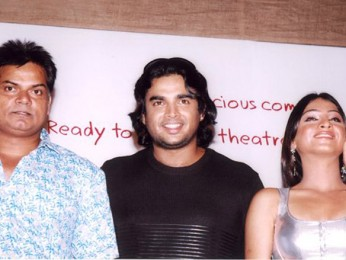 Photo Of Akhilendra Mishra,Madhavan,Samita Bangargi From The Audio Release Of Ramji Londonwaley