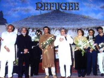 Photo Of Avtar Gill,J.P Dutta,Anu Malik,Javed Akhtar From The Audio Release Of Refugee