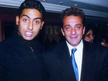 Photo Of Abhishek Bachchan,Sanjay Dutt From The Kaante Movie Completion Party