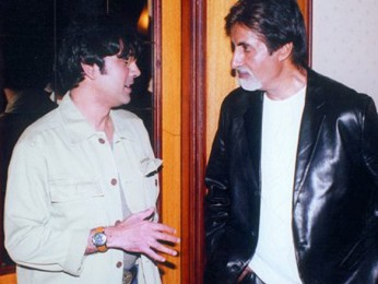 Photo Of Kumar Gaurav,Amitabh Bachchan From The Kaante Movie Completion Party