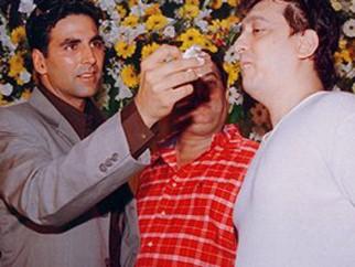 Photo Of Akshay Kumar,David Dhawan,Sajid Nadiadwala From The Mahurat Of Mujhse Shaadi Karogi