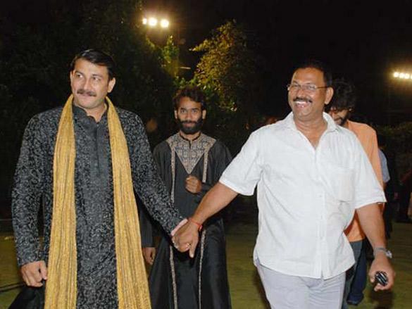 Photo Of Manoj Tiwari,Deepak Sawant From The Amitabh,Abhishek And Aishwarya At The Launch Of Gangotri Music