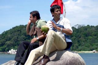 On The Sets Of The Film Bheja Fry 2 Featuring Vinay Pathak,Minissha Lamba,Amole Gupte,Kay Kay Menon,Suresh Menon,Rahul Vohra,Aditi Govitrikar,Rahul Singh,Virendra Saxena,Kishwer Merchant,Rukhsar,Amit Behl