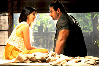 Movie Still From The Film Force,Genelia Dsouza,John Abraham