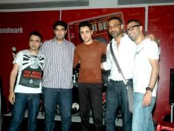 Photo Of Ram Sampat,Kunal Roy Kapoor,Imran Khan,Abhinay Deo,Akshat Verma From The DVD launch of 'Delhi Belly'
