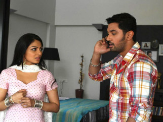 Movie Still From The Film Miley Naa Miley Hum,Neeru Singh,Chirag Paswan