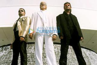 Movie Still From The Film Boom Featuring Gulshan Grover,Amitabh Bachchan,Jackie Shroff