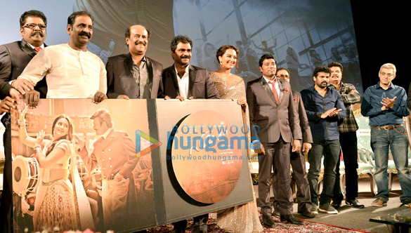 K.S. Ravikumar, Rajinikanth, Rockline Venkatesh, Sonakshi Sinha, Sabu Cyrille, Shankar, Nandu Ahuja