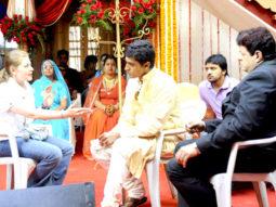 On The Sets Of The Film Isi Life Mein Featuring Akshay Oberoi,Sandeepa Dhar,Salman Khan,Mohnish Behl,Prachi Shah,Aditya Raj Kapoor,Shagufta Ali,Moin Khan,Neha Kakkar,Veebha Anand,Akash Bathija,Rahul Kalra,Deepak Ramola,Ayush Mehra,Samaira Rao,Suyesha,Tash