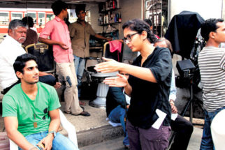 On The Sets Of The Film Dhobi Ghat Featuring Prateik Babbar,Aamir Khan,Monica Dogra,Kriti Malhotra,Kitu Gidwani,Nafisa Khan