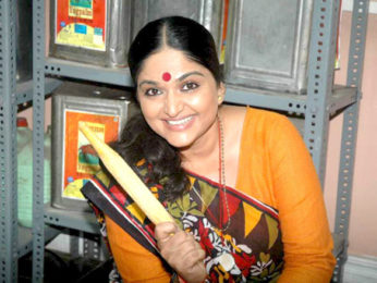 Photo Of Indira Krishnan From The Launch of Sony's new serial 'Krishnaben Khakhrawali'