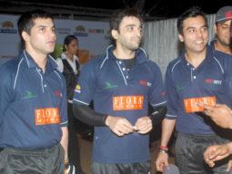 Photo Of Vikas Sethi,Puneet Sachdev,Chaitanya Chaudhary From The Suniel Shetty at Boxy Boyz cricket match