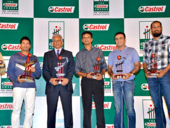 Photo Of Sachin Tendulkar,Mohinder Amarnath,Rahul Dravid,Virender Sehwag,Yusuf Pathan From The Sachin and Sehwag at Castrol Cricket Awards