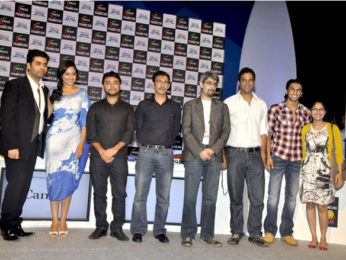 Photo Of Karan Johar,Sonakshi Sinha,Maneesh Sharma,Habib Faisal,Abhishek Sharma,Vikramaditya Motwane,Ranveer Singh,Kiran Rao From The Sonakshi, Ranveer, Kiran Rao and Karan at FICCI-FRAMES 2011 seminar