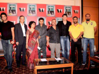 Photo Of Irfan Pathan,Wasim Akram,Harsha Bhogle,Piyush Pandey,Stephen Fleming,Mahendra Singh Dhoni,Yusuf Pathan From The MS Dhoni and other cricketers at Harsha Bhogle's book launch