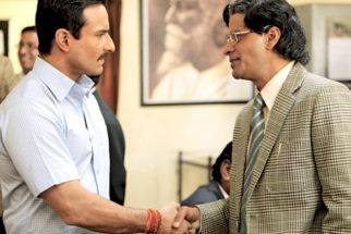 Movie Still From The Film Aarakshan,Saif Ali Khan,Manoj Bajpayee