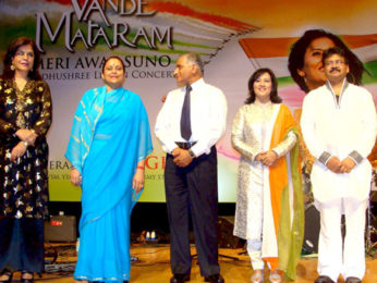 Photo Of Zeenat Aman,Bharti,General V K Singh,Madhushree,Robby From The General V K Singh at release of Madhushree's patriotic album