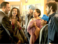 Movie Still From The Film Speedy Singhs,Russell Peters,Noureen Dewulf,Anupam Kher,Sakina Jaffrey,Vinay Virmani
