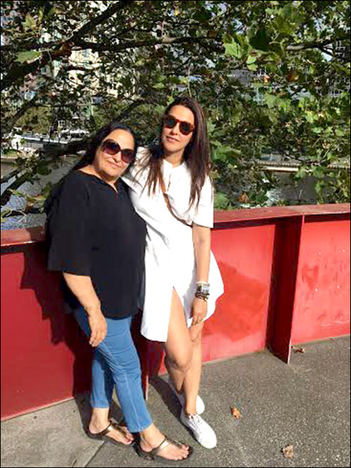 Neha Dhupia vacations with her family in Australia