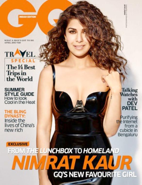 Nimrat Kaur On The Cover Of GQ Magazine,Mar 2015