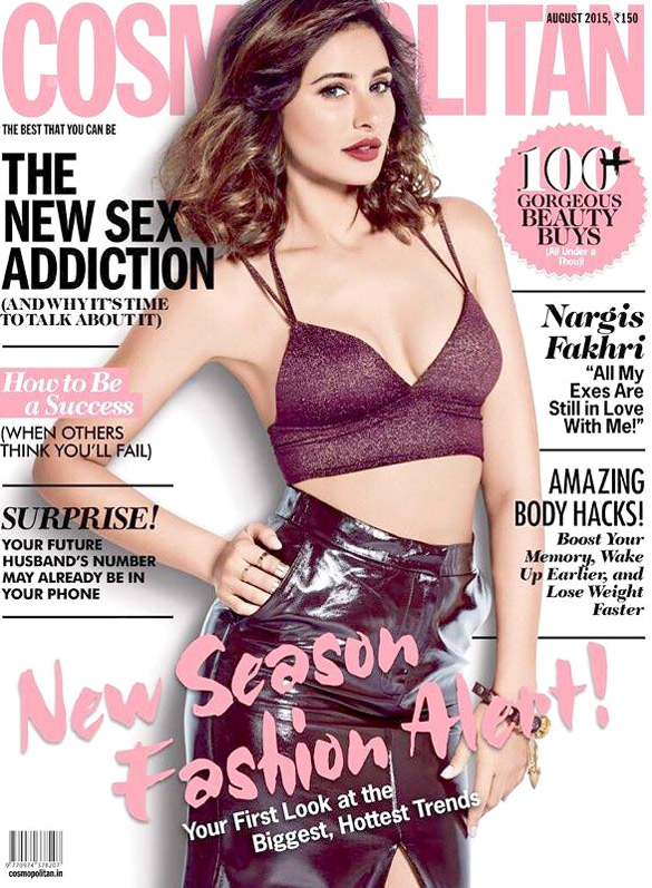 Nargis Fakhri On The Cover Of Society,Jul 2015