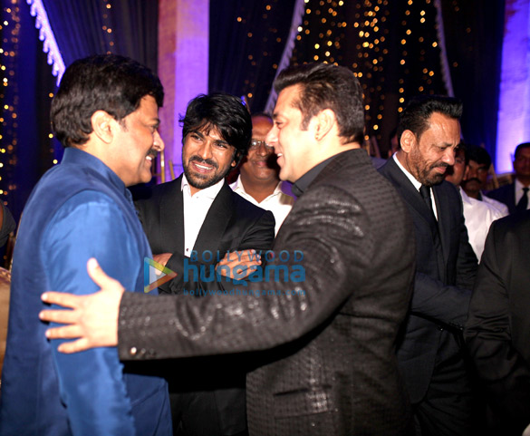 Chiranjeevi, Ram Charan, Salman Khan, Shera