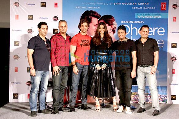 Neeraj Roy, Hrithik Roshan, Sonam Kapoor, Bhushan Kumar, Vinod Bhanushali