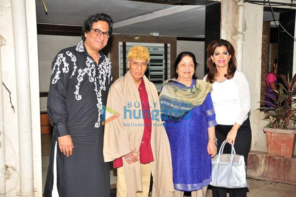 Talat Aziz, Khayyam Saab, Mrs. Jagjit Kaur, Bina Aziz