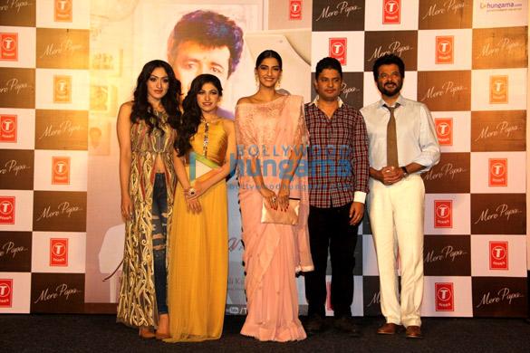 Khushali Kumar, Tulsi Kumar, Sonam Kapoor, Bhushan Kumar, Anil Kapoor