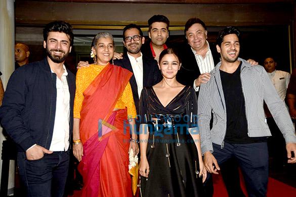 Fawad Khan, Ratna Pathak Shah, Alia Bhatt, Shakun Batra, Karan Johar, Rishi Kapoor, Sidharth Malhotra