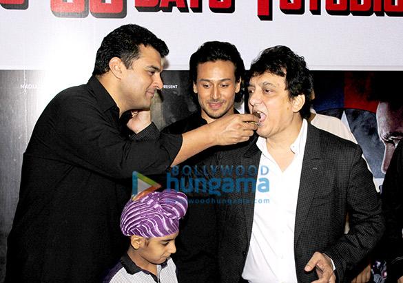 Siddharth Roy Kapur, Tiger Shroff, Sajid Nadiadwala