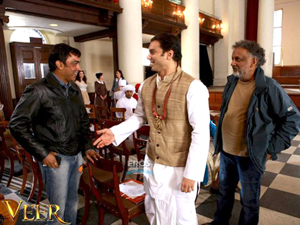 On The Sets Of The Veer (2009) Featuring Sohail Khan