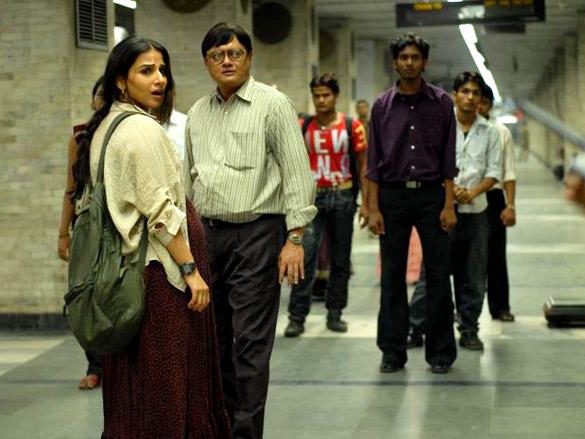 Movie Still From The Film Kahaani,Vidya Balan,Saswata Chatterjee