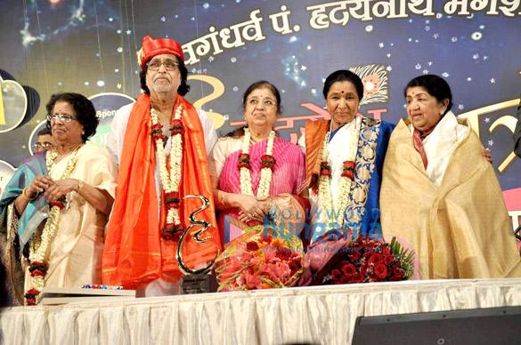 Hridayanath Mangeshkar, Usha Mangeshkar, Asha Bhosle, Lata Mangeshkar