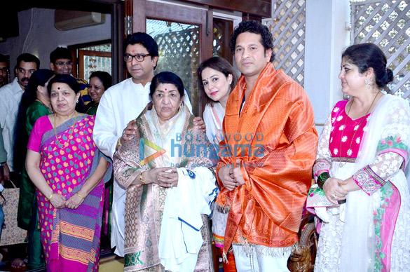 Raj Thackeray, Lata Mangeshkar, Anjali Tendulkar, Sachin Tendulkar, Sharmila Thackeray