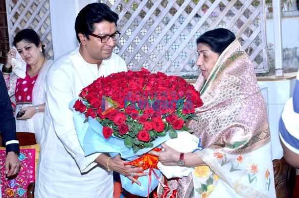 Sharmila Thackeray, Raj Thackeray, Lata Mangeshkar