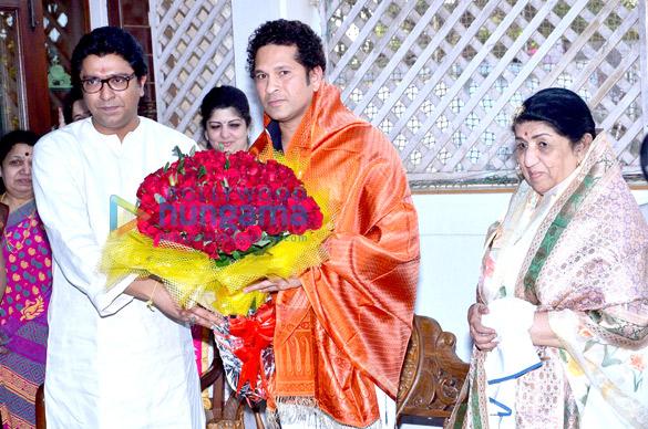 Raj Thackeray, Sharmila Thackeray, Sachin Tendulkar, Lata Mangeshkar
