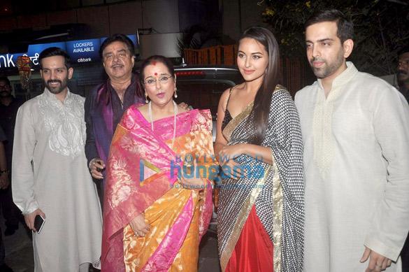 Luv Sinha, Shatrughan Sinha, Poonam Sinha, Sonakshi Sinha, Kush Sinha
