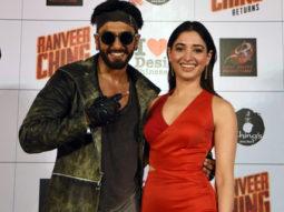 Ranveer Singh, Rohit Shetty, Tamannaah Bhatia At 'Ranveer Ching Returns' Premiere