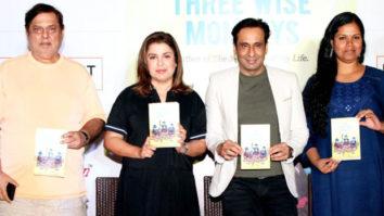 Farah, Sajid and David At 'Three Wise Monkey' Book Launch
