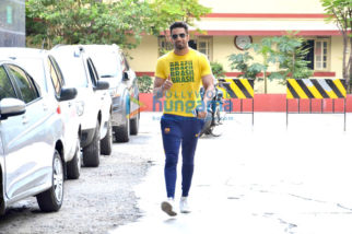 Upen Patel snapped post his gym session in Bandra