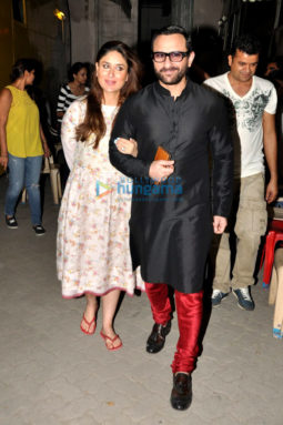 Saif Ali Khan and Kareena Kapoor Khan snapped post Harper's Bazaar Bride shoot in Mumbai