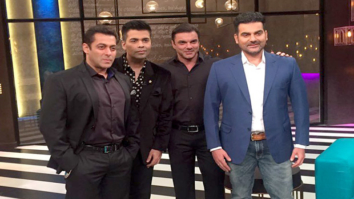 Check out Salman Khan shoots for Koffee with Karan's 100th episode with Arbaaz and Sohail